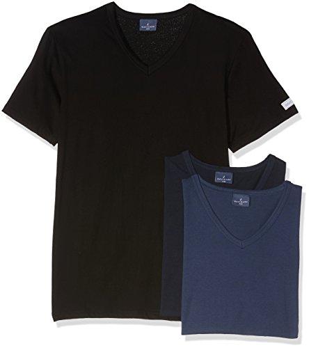 Navigare 512 Maglietta intima, Multicolore (Nero/Navi/Jeans), Small, Pacco da 3, Uomo