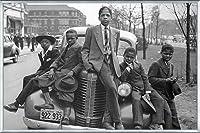 ポスター ラッセル リー Sunday Best (Chicago Boys 1941) 額装品 アルミ製ベーシックフレーム(シルバー)