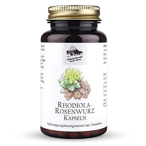 KRÄUTERHANDEL SANKT ANTON® - Rhodiola-Rosenwurz Kapseln - 200 mg Rhodiola-rosea Extrakt - Hochdosiert - Vitamin B1 und B6 - Deutsche Premium Qualität (120 Kapseln)