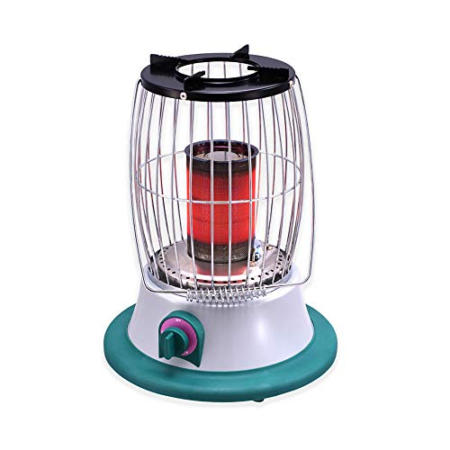 DDLL Portable Fire Pit, Tabletop Propane Patio Heaters with Gas Regulator, Hypoxia Protection, Dumping Protection, 2-3m Heating Distance, for Indoor Outdoor Patio Camping