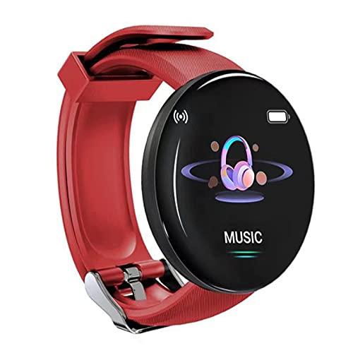 Daodan Smartwatch, Reloj Inteligente 1.44 Pulgadas Táctil Completa IP65, Reloj de Fitness para Mujer Hombre Niño,Pulsera Actividad para iOS Android 8 Modos Deportivos & Impermeable IP65 (Rojo)