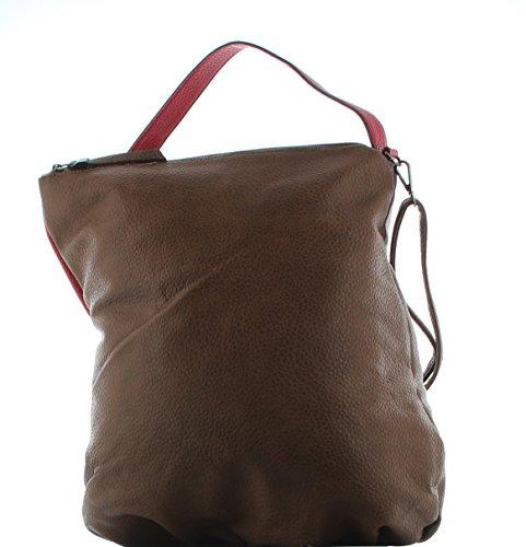 Funbag Handtasche Shopper Beutel XL Ohr Maestro – Cognac Rot