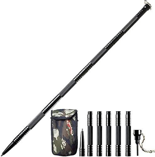 Sindh Trekking Poles, Multifunctional Adjustable Aluminum Hiking Walking Sticks, Collapsible, Lightweight, Shock, Ultralight for Hiking, Camping, Mountaining, Backpacking, Walking, Trekking