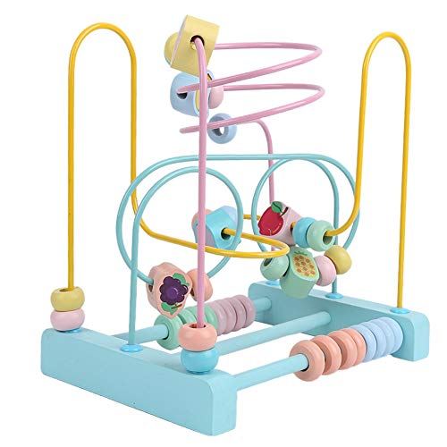 Bonito juguete de coordinación ojo-mano Juguete educativo, fácil y conveniente Juguete de aprendizaje temprano, Regalo para el hogar Halloween Navidad(Macaron three thread winding beads)