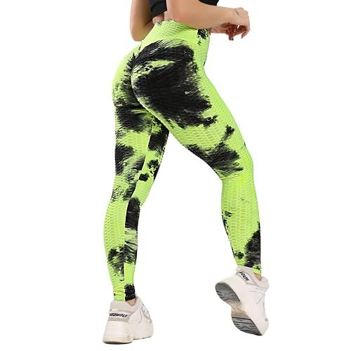 QTJY Pantalones de Yoga sexys para Levantar la Cadera, Pantalones Deportivos para Mujer, Mallas sin Costuras de Cintura Alta, Pantalones de Fitness Push-up JM