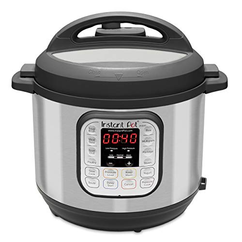 Instant Pot Electric Pressure Cooker, 6-QT, Stainless Steel/Black