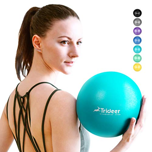 Trideer Pilates Ball, Barre Ball, Mini Exercise Ball, 9 Inch Small Bender Ball, Pilates, Yoga, Core Training and Physical Therapy, Improves Balance, Core Strength & Posture (Turkis (23cm))