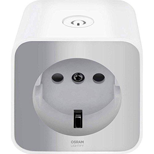 Osram Lightify Plug, Schaltbare Steckdose als Schnittstelle für die Erweiterung des Lightify-Systems durch Einbindung herkömmlicher Leuchtmittel, Kompatibel mit Alexa