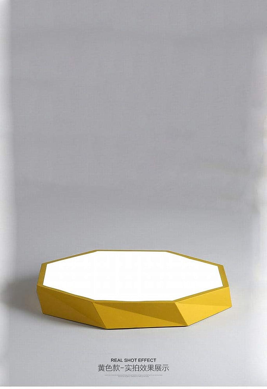 MackeJacke Moderne Einfache Nordic Lighting Led Deckenleuchte Runde Macaron Kreative Kinderzimmer Licht 40  40 cm Gelb DREI Licht