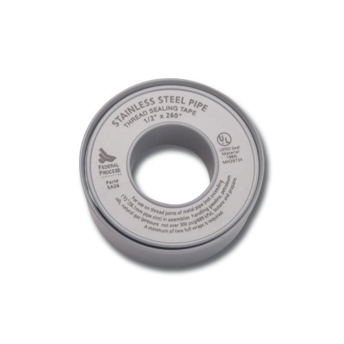 Gasoila Nickel PTFE High Density Thred Tape Roll, -450 to 550 Degree F Performance Temperature, For Stainless Steel, 4.3 mil Thick, 600' Length, 1/2' Width