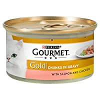Gourmet Gold Can Salmon & Chicken Cig 85g ( x 12 packs ) Makes a loverly gift idea Tender chunks of succulent meat & fish in gravy Good quality item Linked MPN 12176215
