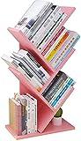 Librero de RevE estantes de Escritorio de madera Pequeño árbol, almacenamiento estantería estantes del pie, for estantería de almacenamiento for la oficina en casa, por CD/ Revista / estante de libro