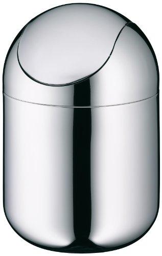 kela 20876 Schwingdeckeleimer Intense Edelstahl glänzend, 3.5 Liter