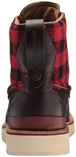 Cole Haan Men's Grandexplore Moc Toe WP Hiking Boot, Chestnut/Buffalo Plaid Wp, 10.5 Medium US