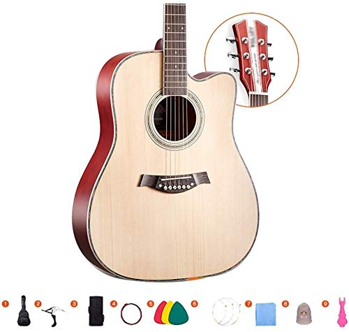 Guitarra eléctrica Guitarra acústica Guitarra Clásica de chapa de madera de abeto...