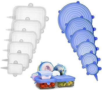 12-Pack Odziezet Silicone Stretch Reusable Lids