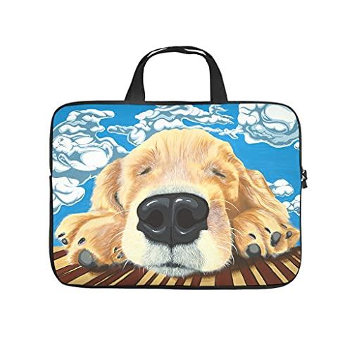 Facbalaign Animal.Painting - Bolsa para portátil con asa y diseño de nubes