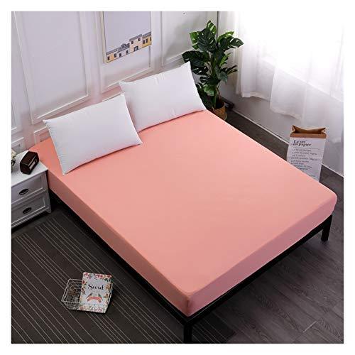 RHBLHQ Sábana Cubierta de colchón de Hoja Ajustada sólida con Hoja de Cama de Goma elástica Todo elástica (Color : Jade, Size : 160x200x25cm)