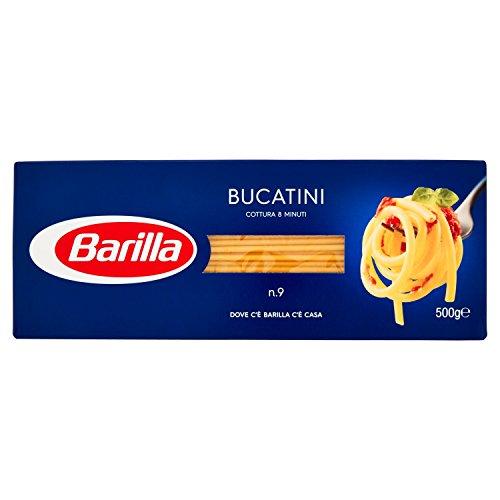Barilla Pasta Bucatini N.9, Pasta Lunga di Semola di Grano Duro, I Classici, 500g