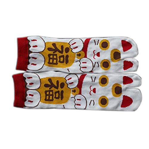Fancy Pumpkin Kimono estilo japonés sandalia Split Toe Tabi Ninja Geta Calcetines Geisha Calcetines para hombres, E-12