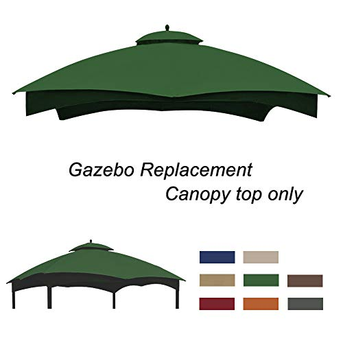 Eurmax Replacement Canopy Top for Lowe's Allen Roth 10X12 Gazebo #GF-12S004B-1(Forest Green)