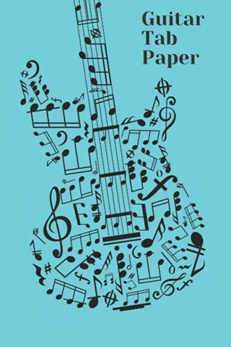 Guitar Sheet : Guitar Tablature Notebook Music Paper Sheet For Guitarist And Musicians: 100 pages of Blank TAB Paper  Music paper sheet