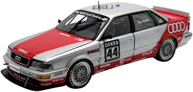 Minichamps–100921044–Fahrzeug Miniatur–Audi Quattro V8–Team SMS–DTM 1992–Mastab 1 18