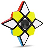 Fidget Spinner 1X3X3 Speed Cube 2 in 1 Stickerless Brain Teasers Magic Puzzle Spinning Top Cube Stress Relief Finger Toys Kids Adults