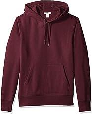 Amazon Essentials Men's Hooded Fleece Sweatshirt, Burgundy, Large