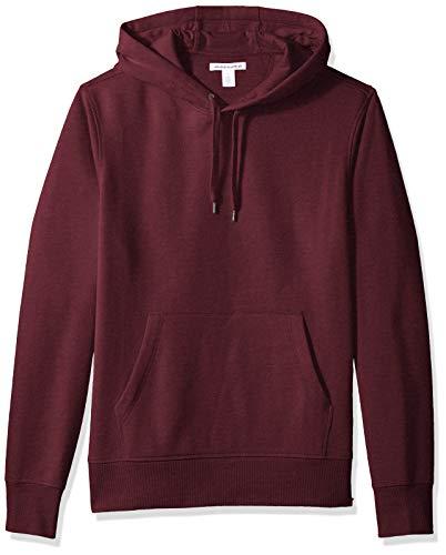 Amazon Essentials Men's Hooded Fleece Sweatshirt, Burgundy, Small