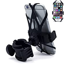 Bike Phone Mount,Bike Mount,Motorcycle Phone Mount,Universal Cycling Phone Holder Fits iPhone X, 8/8 Plus,7, 6/6s Plus, Samsung Galaxy S3 S4 S5 S6 S7 Note 3/4/5,Nexus,HTC,LG(Balck,Single)