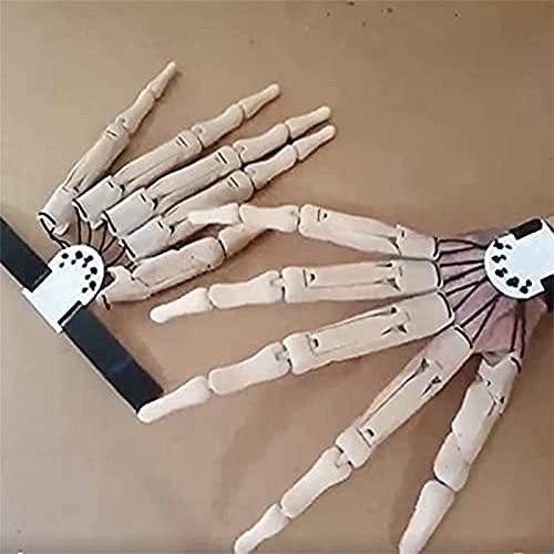 Dedos Articulados Halloween, Extensiones De Dedos Articulados Realistas,Decoraciones Accesorios Halloween Cosplay, Manos De Esqueleto De Fiesta Apair Blanco