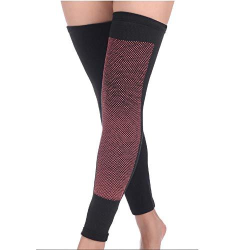 Ecisi 1 Paar Verlängern Selbsterhitzung Knieorthese Ärmel für Männer Frauen, Hohe Stretch Turmalin Magnetfeldtherapie Knie Pad Unterstützung für Arthrose Schmerzlinderung