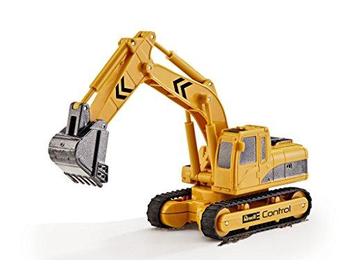 RC Auto kaufen Baufahrzeug Bild 3: Revell Control 23496 RC Baufahrzeug Schaufelbagger mit Kettenantrieb, 27MHz, Akku ferngesteuertes Auto, gelb-orange, 12 cm*