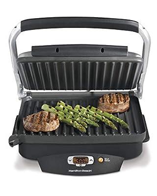 Hamilton Beach Steak Lover??s Grill Sear and Cook Non-Stick Countertop Electric Grill