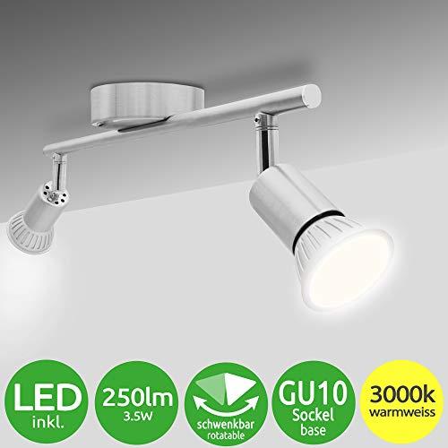 National Electronics GU10 3,5W 250lm LED plafonnier, 2 flammes, 230V, plafonnier