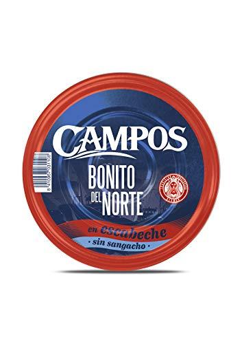 Campos, Conserva de Bonito del norte en escabeche tradicional sin sangacho - pandereta/ lata de1900 gr.