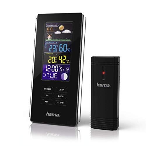 Hama Color Edge Black weerstation accu, AA/AAA, zwart, 86 mm, 47,5 mm, 175 mm
