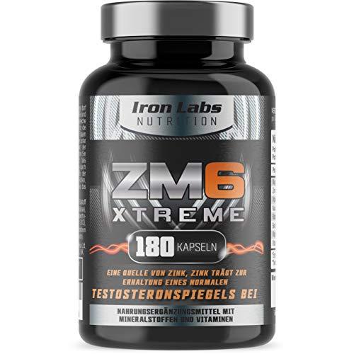 ZM6 Xtreme - Hochdosiert - Zink Magnesium Nahrungsergänzungsmittel - 180 Vegetarische Kapseln, 3 Monatsvorrat - (offiziell zugelassenes ZM6®)