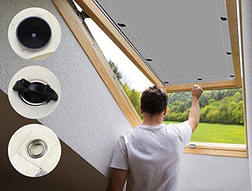 AULIVB Estor térmico para claraboya, 100 x 70 cm, poliéster, para tejados térmicos, color gris