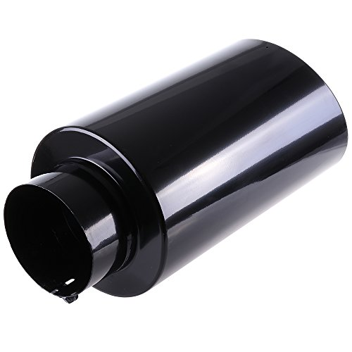 ECCPP Diesel Exhaust Tip 5' Inlet 8' Outlet Exhaust Tips 18' Long Mirror Black Powder Coated Black Stainless Steel Exhaust Tailpipe
