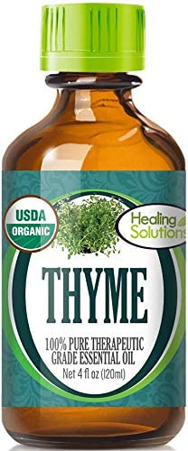 Organic Thyme Essential Oil 100% - Pure Certified Opening large release Super beauty product restock quality top! sale USDA