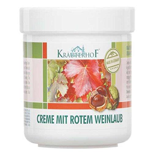 Creme mit rotem Weinlaub von Kräuterhof 250ml
