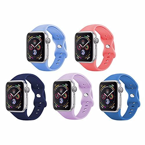 JJGS Correa Compatible con La Correa De Reloj De Apple 38 / 40mm, Correa De Reemplazo De Pulsera De Silicona, Adecuada para IWatch Strap Se/Iwatch Series 6 5 4 3 2 1 3#-42/44mm