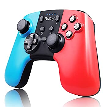Ralthy Wireless Pro Controller for Switch Extra Controller Gamepad Joystick for Switch Controllers Supports Gyro Axis Turbo and Dual Vibration