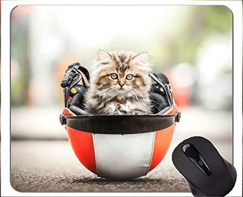 Mauspad mit genähtem Rand, Helmkätzchen-Haustier-Katzen-Innenministerium-Computer-Zubehör Mousepads