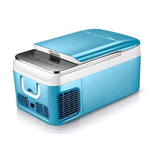 18L Car Koelkast, Mini koelkast 12v 220v, Portable Cool Box Compressor Koeling, 2 kleuren, 580X280X320mm (Kleur: Blauw-18L) LOLDF1