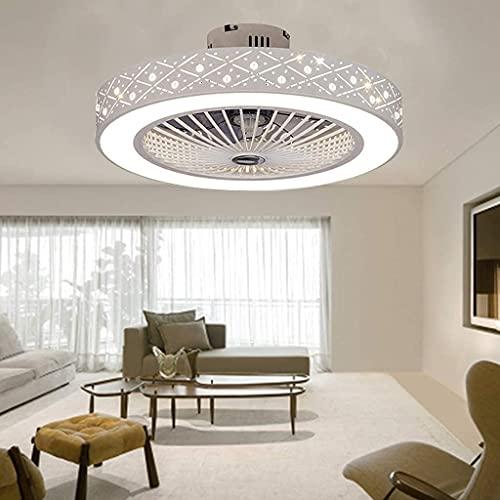 JKYP Ventilador de techo LED de lujo con iluminación y control remoto, ventilador silencioso creativo invisible de techo, luces para dormitorio, comedor, ventilador de techo, sala de estar