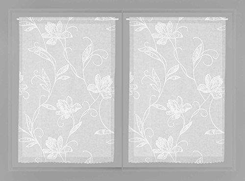 Soleil d'ocre Mylene Paire de Brise Bise, Polyester, Blanc, 60x90 cm
