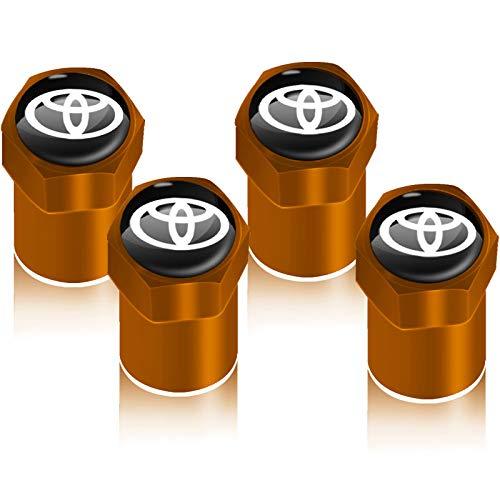 4pcs Rueda de vehículo de la Rueda de la Rueda de la Rueda del neumático para Toyotas Corolla Yaris RAV4 AVENSIS AURIS Camry C-HR 86 Accesorios AUTIUS Accesorios para Llantas (Color Name : Yellow)